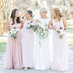 Inspiring us to pursue our bridal dreams is this stunning @mikaellabridal bride and her flawless #bridalsquad 💞. 📷: @aaronandjillian | Venue: @historicricemill #Mikaellabridal #Mikaella