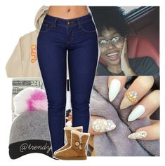 """I'll Do Anything To Make You Laugh ."" by santo-wife ❤ liked on Polyvore featuring beauty and UGG"