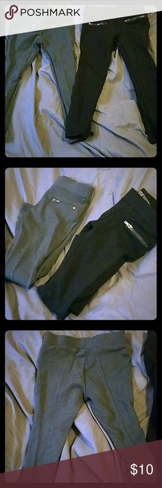 Bundle of NWOT girls staight leg pants size 4 A pair of gray and a pair of black new without tags straightleg bottoms for girls size 4. Elastic waist and stretch all the way done. Wxcellent condition, never worn. All offers considered. Bottoms Leggings