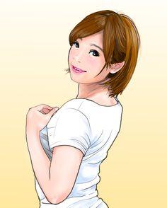 紗倉まな(@sakuramana0000 )さん #似顔絵 #イラスト #AV女優 #紗倉まな #caricature #illustration #sexymodel #manasakura #drawing