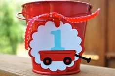 Little Red Wagon Birthday Tags by littlechicklets