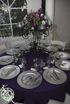I LOVE THIS!! Table setting for wedding reception themarriedapp.com hearted ❤