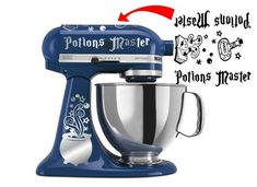 Potions Master Vinyl Decal Sticker for Kitchen Mixersnull via 5 star . Potions Master Decal Vinyl Sticker for Kitchen Aid Style Mixers. Harry Potter Decal, Harry Potter Potions, Kitchen Aid Decals, Kitchen Aid Mixer, Cricut Vinyl, Vinyl Decals, Wall Stickers, Wall Decals, Wall Art