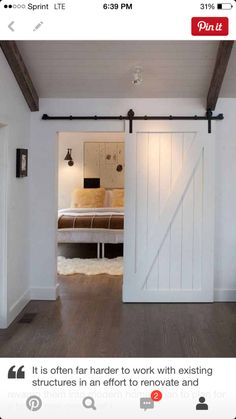 DIY Faux Barn Doors: Hollow Core Door Makeover - using sharpies