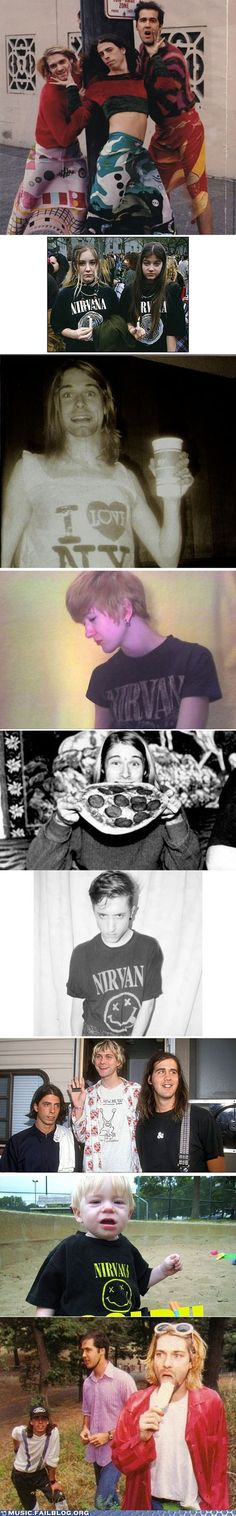 Curt Cobain and his fans.. Funny :)
