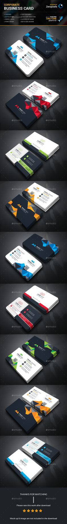 Business Card Bundle — Photoshop PSD #green #pack • Available here → https://graphicriver.net/item/business-card-bundle/15462744?ref=pxcr