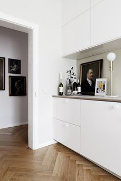 Customized Ikea kitchen in a luxe-minimalist apartment remodel by Studio Oink in Mainz, Germany   Remodelista