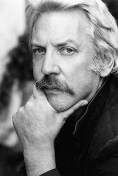 Donald Sutherland :-) I so love this man's voice. American Haunting, Pride And Prejudice 2005, Black And White People, Donald Sutherland, Men Are Men, Black And White Portraits, Clint Eastwood, Director, Interesting Faces