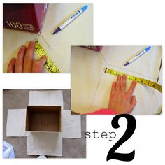 Lined Canvas Bins (from Diaper Boxes!) | Positively Splendid {Crafts, Sewing, Recipes and Home Decor}