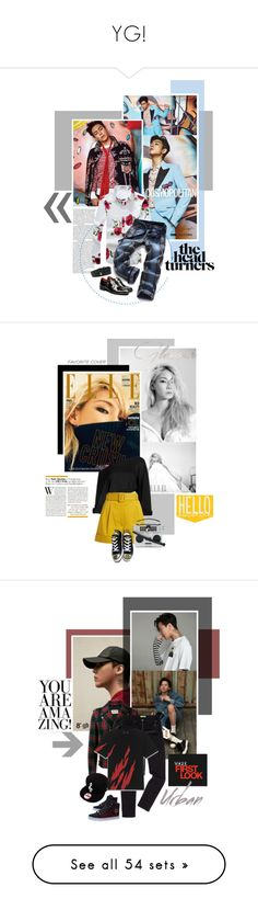 """""""YG!"""" by oh-pororo ❤ liked on Polyvore featuring Givenchy, men's fashion, menswear, bigbang, top, Cosmopolitan, Isa Arfen, Converse, Dolce&Gabbana and 2NE1"""