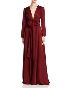 Jill Jill Stuart Plunge Tie Waist Gown | Bloomingdale's