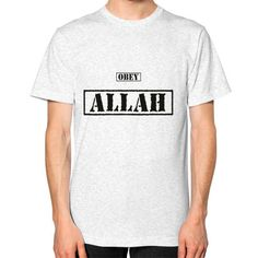 Obey Allah | Men Jersey | American Apparel | Half Sleeves | Islamic T Shirt |New #AmericanApparel #PersonalizedTee