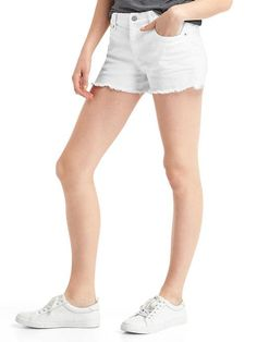 "love white denim shorts (prefer a 5"" inseam - 3"" is too short!)"