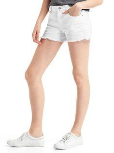 "love white denim shorts (prefer a 5"" inseam - 3"" is too short!)"