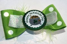 St. Patrick's Day Hair Bow $6.00