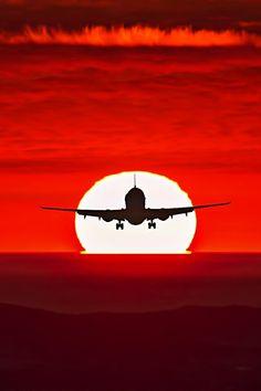 #red #color - #coucher du #soleil #rouge