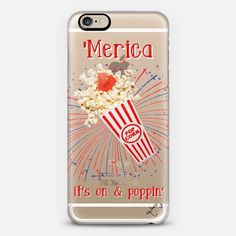 'Merica - It's On & Poppin iPhone 6 case by Love Lunch Liftoff | Casetify - take $10 off with promo code QJ3PX9 - FREE SHIPPING TOO!