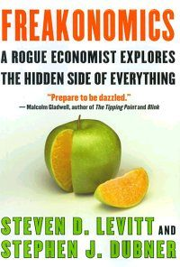 Freakonomics @ Levitt and Dubner. Surprising look at different phenomena in society through a sociology/economics looking glass.