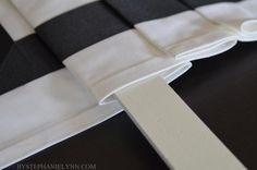 How to Make a No Sew Fixed Roman Shade with Valance - bystephanielynn. For the bay in the kitchen?