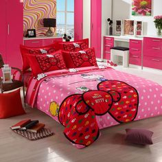 Hello Kitty Bedroom Furniture for Sale . 9 Lovely Hello Kitty Bedroom Furniture for Sale . Hello Kitty Bedroom Set, Hello Kitty Rooms, Hello Kitty House, Baby Crib Bedding Sets, Queen Bedding Sets, Queen Beds, Bedroom Furniture For Sale, Home Furniture, Furniture Design