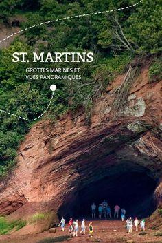 Au gré des marées   Arrêt no 5 - St. MARTINS : Niché entre des falaises, en bordure de mer, et des plages sablonneuses, St. Martins est le portail du Sentier Fundy. N'oubliez pas de déguster un bol de chaudrée pour vous préparer à l'aventure!