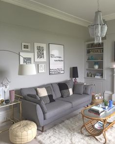 Living Room Ideas with Gray sofa. Living Room Ideas with Gray sofa. Choosing A Color theme for the Grey Living Room is One Of Silver Living Room, Living Room Paint, Living Room Grey, Living Room Sofa, Home Living Room, Cozy Living, Apartment Living, Farrow And Ball Living Room, Cozy Apartment