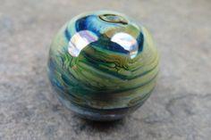 Into the Fire Lampwork Art Beads ~Cosmic Glo~ Artist handmade glass focal bead