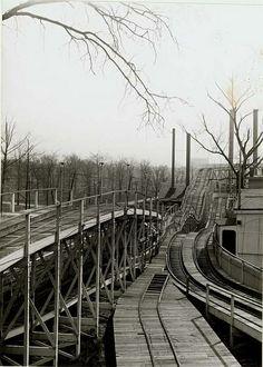 Roller Coaster at Forest Park Highlands, 1906 by Missouri History Museum, via Flickr