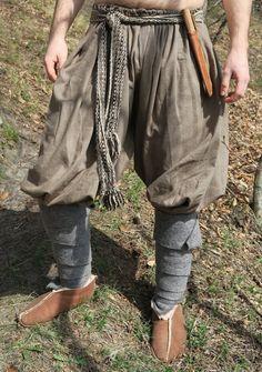 Medieval Viking Pants Shalwar Linen Pants by Ratatoskrmarket