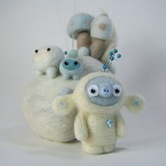 Yute - adorable felted creature