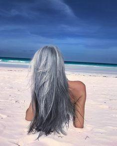 Gray Lace Frontal Wigs hair gel for grey hair – baiwangshop Grey Hair Don't Care, Long Gray Hair, Grey Wig, Silver Grey Hair, White Hair, Pelo Color Plata, Gray Hair Highlights, Natural Highlights, Grey Hair Inspiration