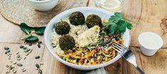 The torrid veggie bowl of Nous Veggie Recipes, Vegetarian Recipes, Healthy Recipes, Veggie Bowl, Mint Yogurt Sauce, Green Lentils, Avocado Salad, Feta, Clean Eating