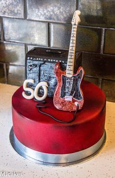 Guitar and amp cake Guitar Birthday Cakes, Guitar Cake, Birthday Cakes For Men, Adult Birthday Party, 40th Birthday, 50th Birthday Party Decorations, Cake Decorations, Jack Daniels Cake, Music Cakes
