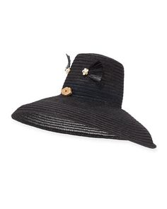 Cheeky+Hemp+Sun+Hat,+Black+by+Yestadt+Millinery+at+Bergdorf+Goodman.