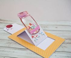 Sliding Easel Card: In today's tutorial I'm going to show you how to make a sliding easel card. Slider Cards, Spellbinders Cards, Anna Griffin Cards, Interactive Cards, Exploding Boxes, Shaped Cards, Easel Cards, Scrapbook Cards, Scrapbooking