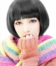 Short Mod Bob Lady Fashion Wig/Wigs JF010547 (Black) by cool2day. $16.49. Please kindly note it's not REAL PERSON HAIR , the model wearing WIG is just for show. Please kindly note it's not REAL PERSON HAIR , the model wearing WIG is just for show Feature: 1.Excellent Quality straight 100%  Japanese Kanekalon (high quality one-) made fiber wig    2.With a wig-centering design, It was made of high temperature wire, Therefore ,it can be straightened by hair sticks ...