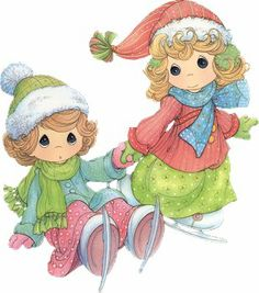 precioua moments clipart | PM~WinterSkating1sm.jpg