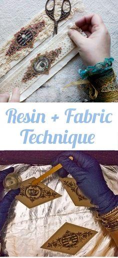 Fabric Ideas Resin plus Fabric Technique - Simple! - The Graphics Fairy - This Resin plus Fabric Technique adds fun accents to your projects! Plastic Fou, Diy Locker, Diy Wood Wall, Diy Blanket Ladder, Martha Stewart Crafts, Diy Headboards, Valentines Diy, Resin Crafts, Resin Art