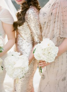 Girls in glitter #bridesmaids | Photography by @K T Merry   Read more - http://www.stylemepretty.com/2014/01/16/paris-destination-wedding-at-hotel-crillon-part-ii/ Visit http://www.brides-book.com for more great wedding resources