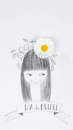 happy Women's Day pencil drawing  - by PinkNounou