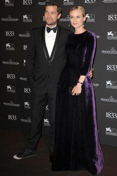Diane Kruger y Joshua Jackson Diane acudió acompañada de su inseparable novio, Joshua Jackson, muy elegante con esmoquin negro