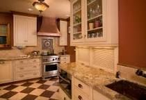 Image result for marmoleum and maple cabinets