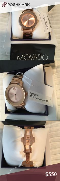 Movado bold Gorgeous rose gold movado watch. New with tags. No links are taken out. Movado Accessories Watches