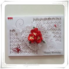 Lunasdatters Scrapbooking: Happy Birthday kort ..