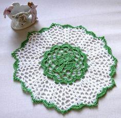 Irish Shamrock Crochet Lace Doily Clover by NutmegCottage on Etsy, $9.50