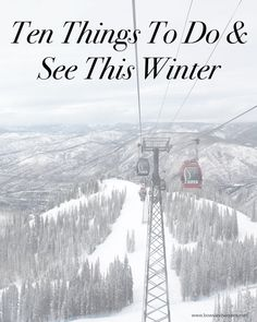 Then Things to Do & See This Winter   @bowsandsequins