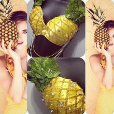 PineApple Rave Bra for EDC would be cuteYou can find Rave bras and more on our website.PineApple Rave Bra for EDC would be cute Rave Festival, Festival Wear, Festival Outfits, Electric Daisy Carnival, Diy Costumes, Dance Costumes, Edc, Pineapple Costume, Burlesque
