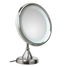 WS Bath Collections Mirror Pure Lucciolo Magnifying Cosmetic Mirror with Lighting