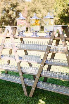 Top 20 Vintage Wooden Ladder Wedding Decor Ideas a large wedding d. - Top 20 Vintage Wooden Ladder Wedding Decor Ideas a large wedding drink bar made of a - Ladder Wedding, Farm Wedding, Wedding Ceremony, Wedding Arches, Wedding Backyard, Small Garden Wedding, Wedding Picnic, Ceremony Programs, Wedding Sparklers