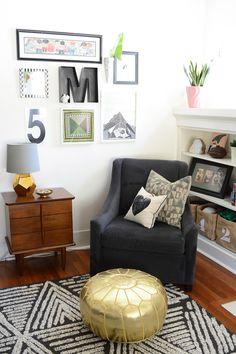 Oleander and Palm: Modern Meets Vintage Living Room